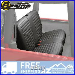 Bestop Rear Bench Seat Cover 03-06 Jeep Wrangler TJ & Unlimited LJ Black Diamond
