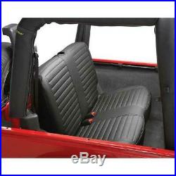 Bestop Rear Bench Seat Cover Black Denim for Jeep Wrangler 1997-2002
