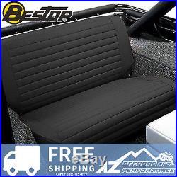 Bestop Seat Cover Rear Bench Fold & Tumble 65-95 Jeep CJ5 CJ7 Wrangler YJ Black