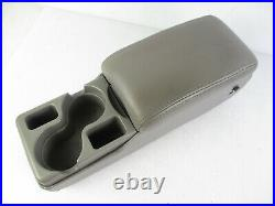 Buick Century Regal Impala Center Console Armrest Cup Holder Gray Leather 00-05