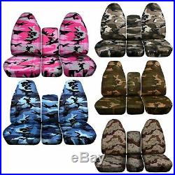 Camo car seat cover fits 94-02 Dodge Ram front 40-20-20 seat with Integrated SB/No