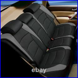 Car SUV Truck Leatherette Seat Cushion Covers Rear Bench Cover Gray