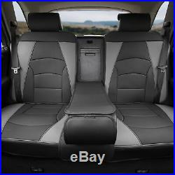 Car SUV Truck PU Leather Seat Cushion Covers Rear Bench Cover Gray