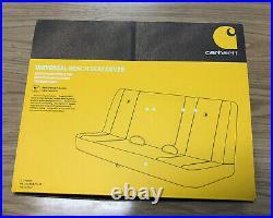Carhartt Universal Bench Seat Cover, Black NEW 3/3/21