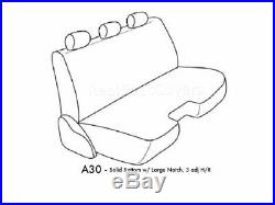 Charcoal Gray Bench Seat Cover Large Notched Cushion 3 Adj Headrest Exact Fit