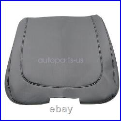 Console Lid Armrest Cover Bench Jump Seat PVC Leather for Dodge Ram 13-18 Black