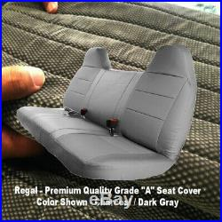 DARK GREY Front Bench Seat Cover Molded Headrest F-Series Automotive Thick