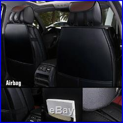 Deluxe Car Seat Cover Full Set Cushion Split Bench Coffee Tone Classy Protector
