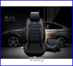 Deluxe Full Set Car Seat Cover Front Rear Adjustable Bench Padded Sponge 5 Seat
