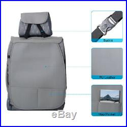 Deluxe GRAY Car Seat Cover Set Front+Rear Split Bench For 5 Seat SUV Sedan Comfy
