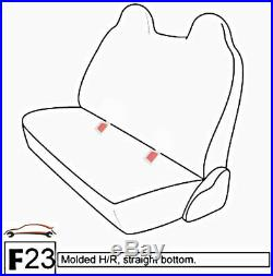 F23 PUGR F-Series Regular Super Cab Front Rear Solid Bench Seat Cover for Ford