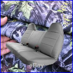 FOREST CAMO Bench Seat Cover Molded Headrest F-Series Automotive Thick