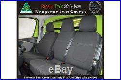 FRONT Bucket + Bench Seat Cover Fit Renault Trafic 2004 14 Neoprene Waterproof