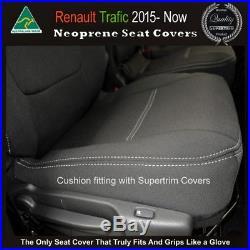 FRONT Bucket + Bench Seat Cover Fit Renault Trafic 2016-Now Neoprene Waterproof