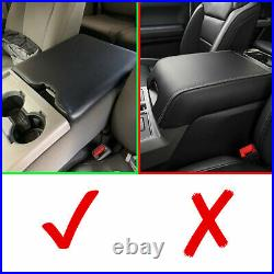 For 2015-2019 Ford F150Leather Center Console Lid Armrest Cover Bench Seat Black