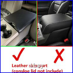For 2015-2019 Ford F150 Vinyl Center Console Lid Armrest Cover Bench Seat Black