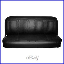 For Chevy C10 Pickup 69-70 Front Black Walrus Grain Vinyl Bench Seat Cover
