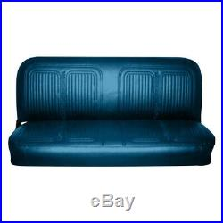 For Chevy C10 Pickup 69-70 Front Bright Blue Walrus Grain Vinyl Bench Seat Cover
