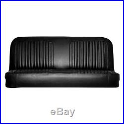 For Chevy C10 Pickup 71-72 Front Black Walrus Grain Vinyl Bench Seat Cover