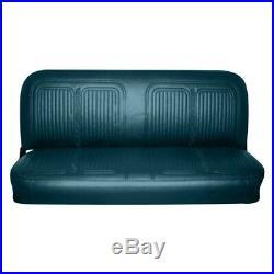 For Chevy K30 Pickup 69-70 Front Dark Aqua Walrus Grain Vinyl Bench Seat Cover