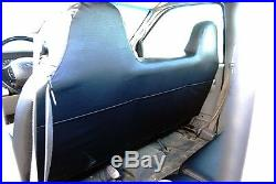 Ford F-250 350 Black/red Iggee S. Leather Custom Fit Bench Front Seat Cover