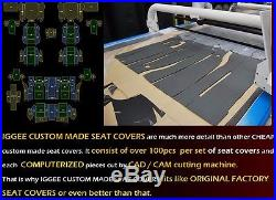 Ford F-250 350 Charcoal Iggee S. Leather Custom Fit Bench Front Seat Cover