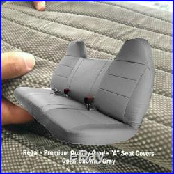 GRAY GREY Front Bench Seat Cover Molded Headrest F-Series Automotive Thick
