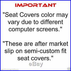 GRAY PU LEATHER Front Bench Seat Cover Molded Headrest F-Series Automotive Thick