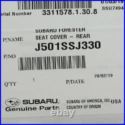 Genuine OEM 2019 Subaru Forester Rear Seat Bench Polyester Cover J501SSJ330
