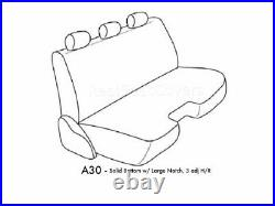 Gray PU Leather Bench Seat Cover Large Notched Cushion 3 Adj Headrest Exact Fit