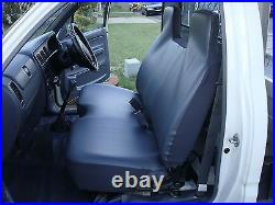 Grey Fur Bench Seat Cover With Smallstick Cut Out Toyota Hilux 1997-2004