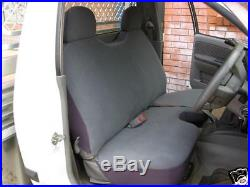 Grey Velour Bench Seat Cover Holden Rodeo 03-06, Plain Grey