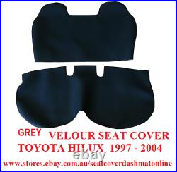 Grey Velour Bench Seat Cover With Smallstick Cut Out Toyota Hilux 1997-2004