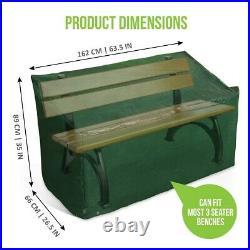 Heavy Duty 3 Seater Garden Bench Cover Seat Waterproof Weatherproof Outdoor 5ft