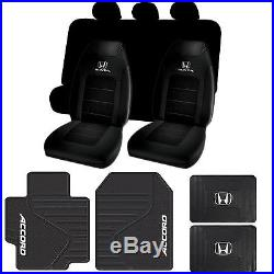 Honda Accord Rubber Mats Seat Covers & Black Bench Cover 11pc Universal-fit