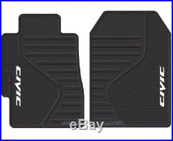 Honda Civic Rubber Mats HB Seat Covers & Black Bench Cover 11pc Universal-fit
