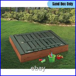 Large Kids Sandbox with Convertible Two Bench/Cover Seat Children Outdoor Activity