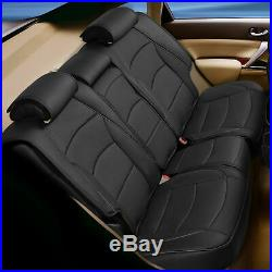 Leatherette Seat Covers For Car Rear Split Bench Cover Black For Auto
