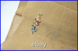 Lindhorst Tapestry Edelfrau Needlepoint Floral Flowers German Bench Seat Cover
