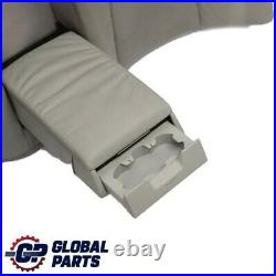 Mercedes-Benz S-Class W220 Rear Seat Backrest Bench Leather Cover Grey