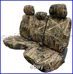 Muddy Water Camo Bench Seat Cover Large Notched Cushion 3 Adj Headrest Exact Fit