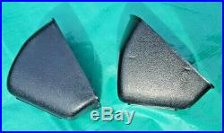 OEM 1969-1972 Cadillac LH RH Bench Seat Belt Retractor and Cover Pair BLACK
