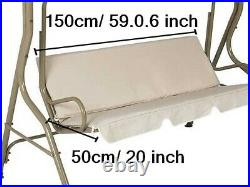 Outdoor Canopy Swing Patio Chair Lounge 3-Person Seat cover Hammock Porch Bench
