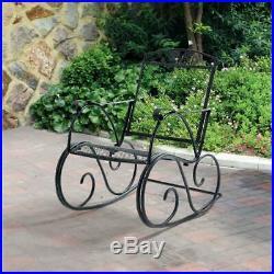 Outdoor Metal Rocking Chair Patio Glider Rocker Porch Chair Garden Deck Seat NEW