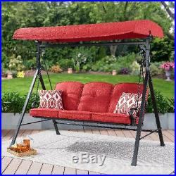 Outdoor Patio 3 Seat Porch Swing Chair Furniture Canopy Top Cover Garden Yard