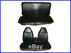PG Classic 6603-BEN-100 1974 Dart Duster Front Split Bench Seat Cover Set(BLACK)
