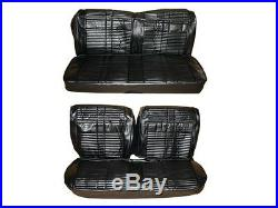 PG Classic 7707-BEN-100 1968Roadrunner GTX Satellite Bench Seat Cover Set(Black)
