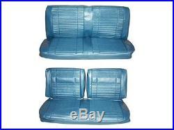 PG Classic 7708-BEN-330 1969 Roadrunner Satellite Bench Seat Cover Set(Blue)