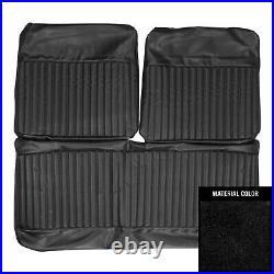 PUI 1970 Dodge Dart/Swinger/340 Black Front Bench Seat Cover 70KSD10B