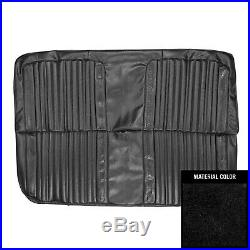 PUI 1971-1972 Chevrolet Truck Black Front Bench Seat Cover 71TS10B